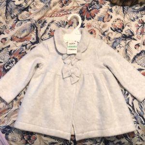 Baby girl grey pea coat new w tags